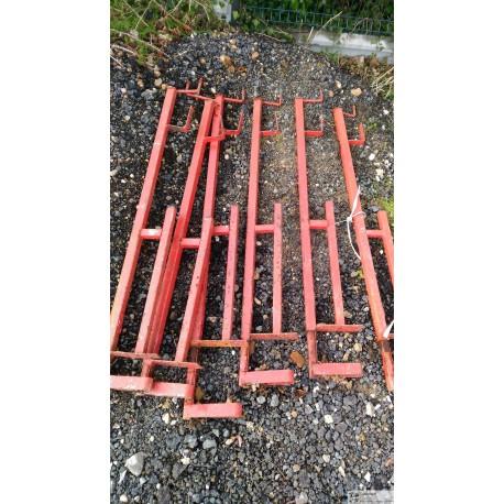 lot de 6 pince-dalle pour garde-corps provisoires de chantier