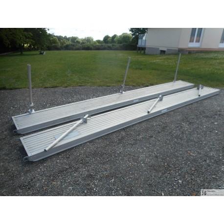 LOT Passerelle aluminium 6m avec 3 potelets