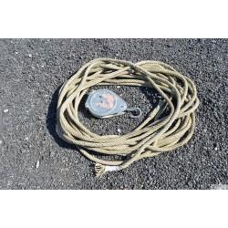 Poulie avec corde 35m