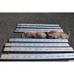 LOT de 4  ensembles plinthe et garde corps DIMOS avec filet
