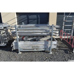 Echafaudage roulant ALU Docker 85 -2.05m - Version EXMDS hauteur 6.90m + container