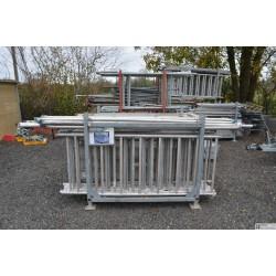 Echafaudage roulant ALU Docker 85 -2.05m - Version EXMDS hauteur 9.90m + container